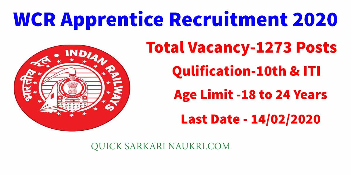WCR Apprentice Recruitment 2020