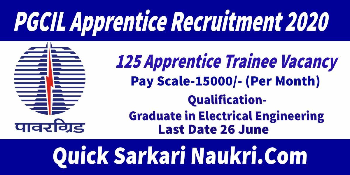 PGCIL Apprentice Recruitment 2020 Salary